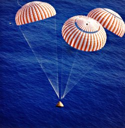 Apollo 17 Command Module nears splashdown